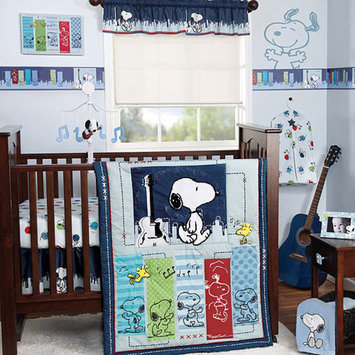Bedtime Originals by Lambs & Ivy Lambs & Ivy Bedtime Originals Hip Hop Snoopy 4pc Crib Bedding Set, Blue