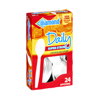 Diamond Daily Super Strong Luncheon Size Cutlery Spoons - 24 CT