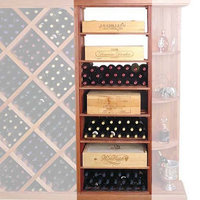 Wine Cellar Innovation Designer Series 153-Bottle Rectangular Bin & Case Wine Rack