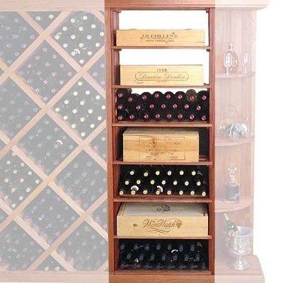 Wine Cellar Innovation Designer Series 153-Bottle Rectangular Bin & Case Wine Rack
