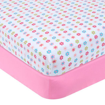 Garanimals Set of 2 Full-Size Fitted Crib Sheets, Pink