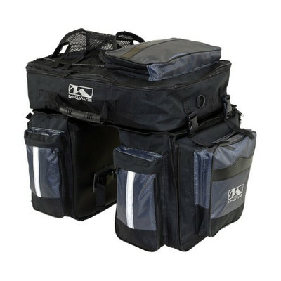 Cycle Force M-Wave Traveller Pannier - Black/ Silver (3pc)