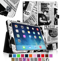 iPad Air 2 Case [Corner Protection] - Fintie Slim Fit Leather Folio Case with Auto Sleep / Wake Feature, Map Design