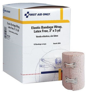 FIRST AID ONLY J616 Bandage, Cloth,6-1/2 in. L,PK12