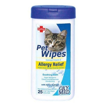 Tropiclean Allergy Relief Pet Wipes, 25 Count