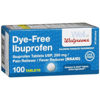 Walgreens Ibuprofen Tablets Color Free and Dye Free