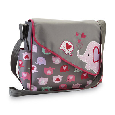 Cudlie Messenger Diaper Bag & Changing Pad - Elephants