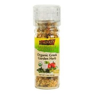 Red Monkey Foods Organic Greek Garden Herb Seasoning Grinder