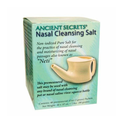 Ancient Secrets Nasal Cleansing Salt Packets 40 Packets