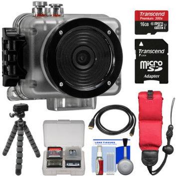 Intova Nova HD Waterproof Sports Video Camera Camcorder with 16GB Card + Float Strap + Flex Tripod + Kit