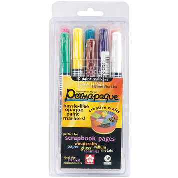 Sakura Permapaque Paint Marker Fine Point Set - 10 Count