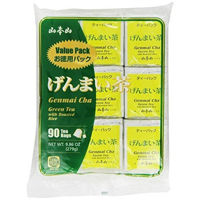 Yamamotoyama Genmai Cha Roasted Brown Rice Green Tea Value Pack, 9.86-Ounce Bag