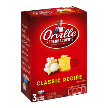 Orville Redenbacher's Gourmet Popping Corn Bags Classic Recipe