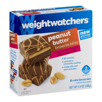 Weight Watchers Brownies Bliss Mini Brownies Peanut Butter - 6 CT