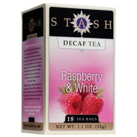 Stash Premium Decaf Raspberry & White Tea, Tea Bags, 18-Count Boxes (Pack of 6)