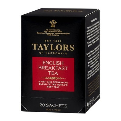 Taylors of Harrogate, Black Tea, English Breakfast Tea, 20 Count Wrapped Tea Bag