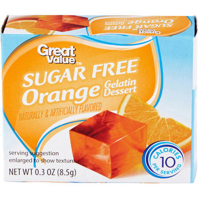 Great Value: Sugar Free Orange Gelatin Dessert, .3 Oz