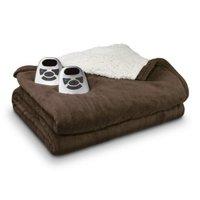 Biddeford Blankets Biddeford Microplush Sherpa Electric Electric Blanket - Brown (King)