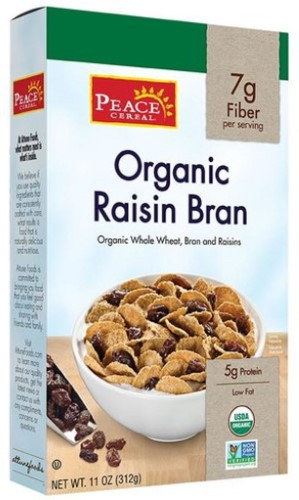 Peace Cereal Organic Raisin Bran Cereal 11 oz - Vegan
