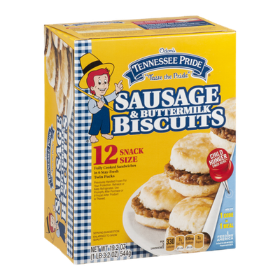 Odom's Tennessee Pride Sausage & Buttermilk Biscuits - 12 CT