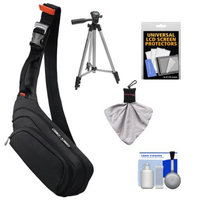 Sony LCS-EME/BI Digital Camera Sling Case with Tripod Kit for Alpha A7, A7R, A3000, NEX-C3, NEX-5N, NEX-5T, NEX-6, NEX-7