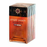Stash Tea Ginger Peach Green W/ Matcha 18 Tea Bags Case of 6
