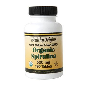 Healthy Origins Organic Spirulina 500mg, Tablets