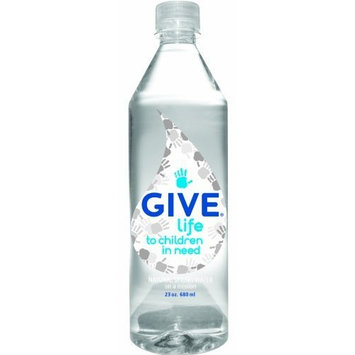 Give Water Give Life Natural Spring Water, 23-Ounce Bottles (Pack of 12)