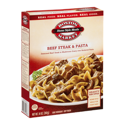 Boston Market Home Style Meals Beef Steak & Pasta