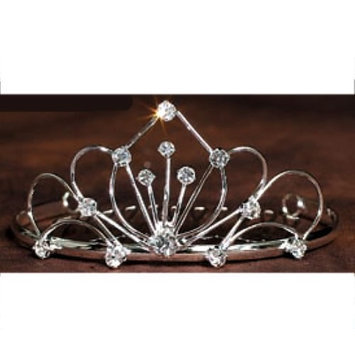 Angels Garment Little Girls Silver Clear Rhinestone Princess Tiara