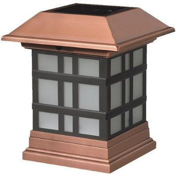 Maine Ornamental 4-in x 4-in Copper Plastic and Stainless Steel Solar Post Cap 117686