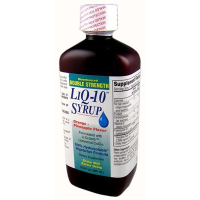 Tishcon Corp Double Strength Liquid CoQ10 Syrup, 100mg per 5ml