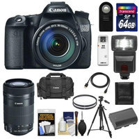 Canon EOS 70D Digital SLR Camera & EF-S 18-135mm IS with 55-250mm IS STM Lens + 64GB Card + Battery + Case + Filters + Flash + Tripod + Kit