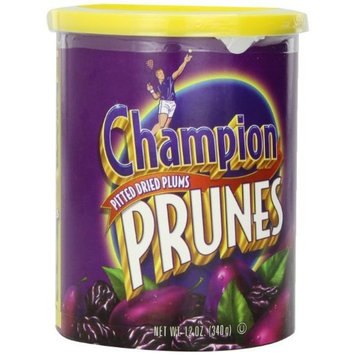 Champion Prunes, 12-Ounce Canisters (Pack of 12)