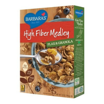 Barbara's Bakery Barbara's High Fiber Medley Cereal, Flax & Granola, 12 Ounce (Pack of 6)