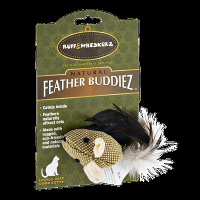 Ruff & Whiskerz Natural Feather Buddiez Cat Toy