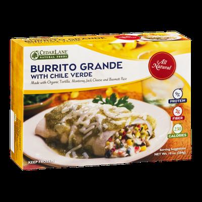 CedarLane Burrito Grande with Chile Verde