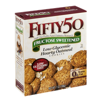 FIFTY 50 Fructose Sweetened Low Glycemic Hearty Oatmeal Cookies