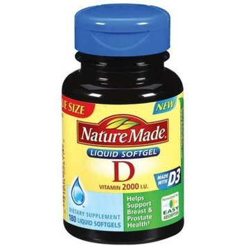 Nature Made Vitamin D 2000IU, 180 Softgels