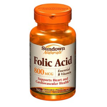 Sundown Naturals Folic Acid 400mcg