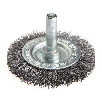 Forney 60014 Wheel Brush Coarse Crimped Wire with 1/4 Inch Shank 2 Inch