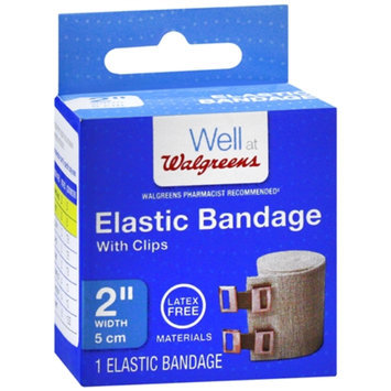 Walgreens Elastic Bandage With Clips, 2 inch, 1 ea
