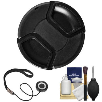 Bower 62mm Pro Series II Snap-on Front Lens Cap with Accessory Kit for Digital SLR Cameras