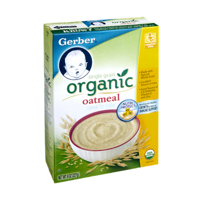 Gerber Single Grain Organic Oatmeal Cereal for Baby