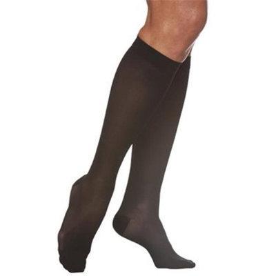 Sigvaris EverSheer 781CLSW99 15-20 Mmhg Closed Toe Large Short Calf Hosiery For Women Black