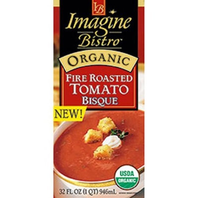 Imagine Bistro Organic Fire Roasted Tomato Bisque, 32 Ounce Cartons (Pack of 12)