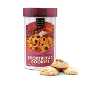 Salem Baking Company Chocolate Chunk Shortbread Cookies , 5-Ounce Tubes (Pack of 3)