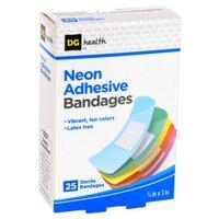 DG Health Neon Adhesive Bandages - 25 ct