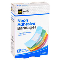DG Health Neon Adhesive Bandages - 25 ct