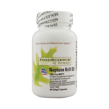 Food Science Labs 0759795 FoodScience of Vermont Neptune Krill Oil - 60 Softgel Capsules